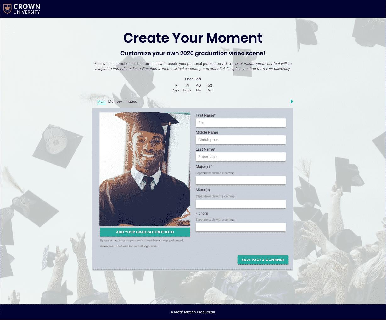 virtual graduation website portal