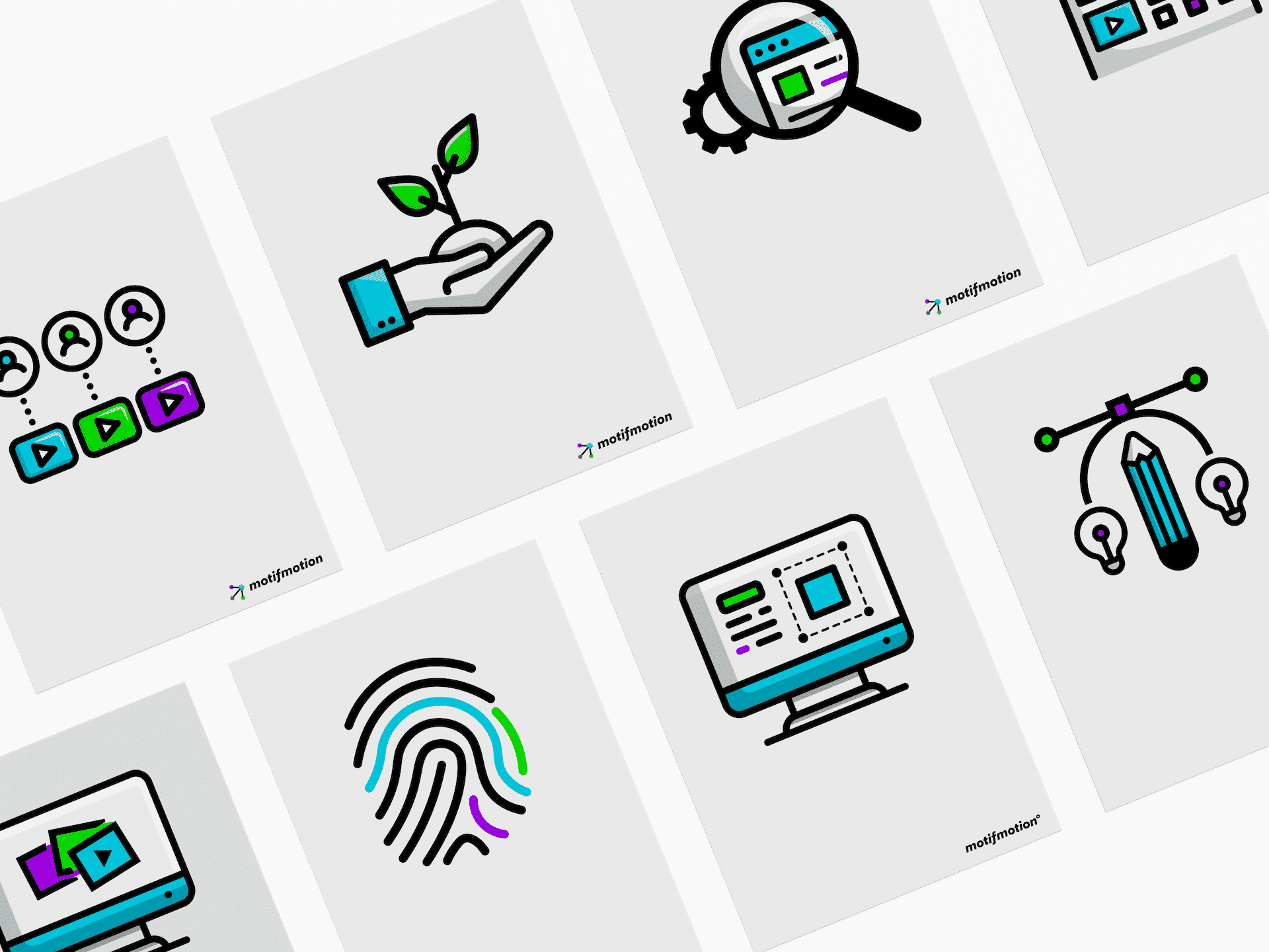 motif motion company rebrand new icons